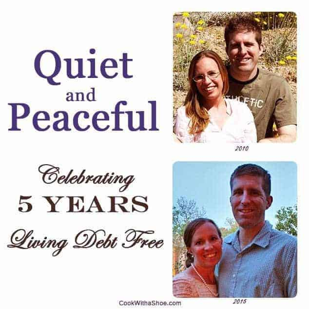 quiet and peaceful 5 years debt free