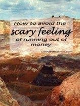 how to avoid the scary feeling of running out of money, painted desert in the background