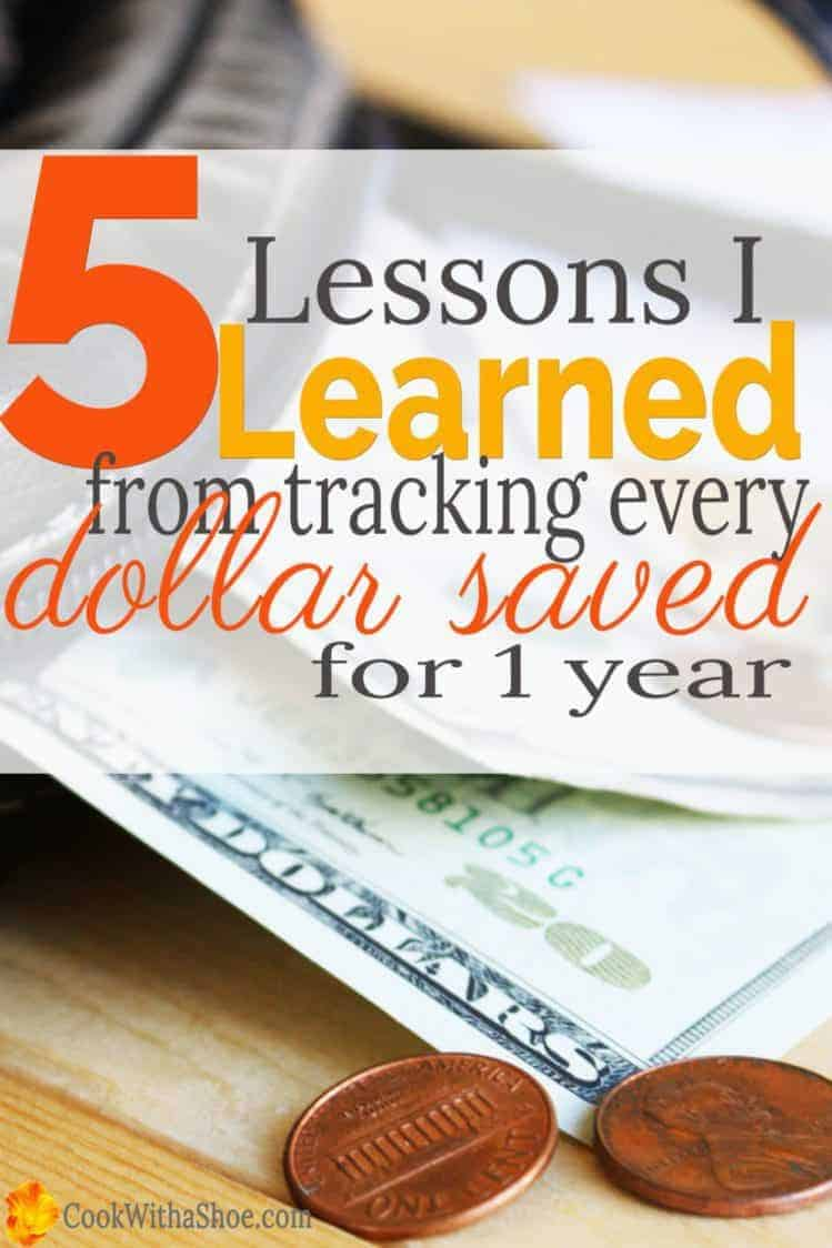 5 lessons I learned from tracking every dollar saved for a year