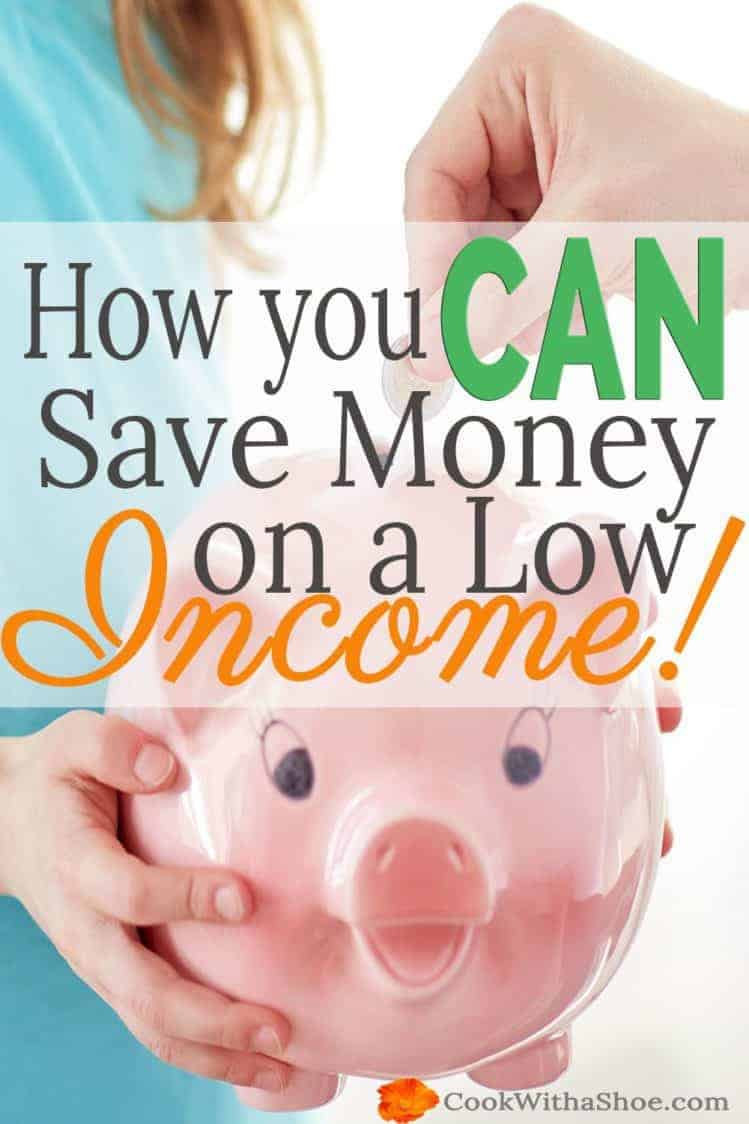 Think you can't save money on a low income??? WAIT! You can save money and changing the way you think will allow you to save money, even on a low income!!