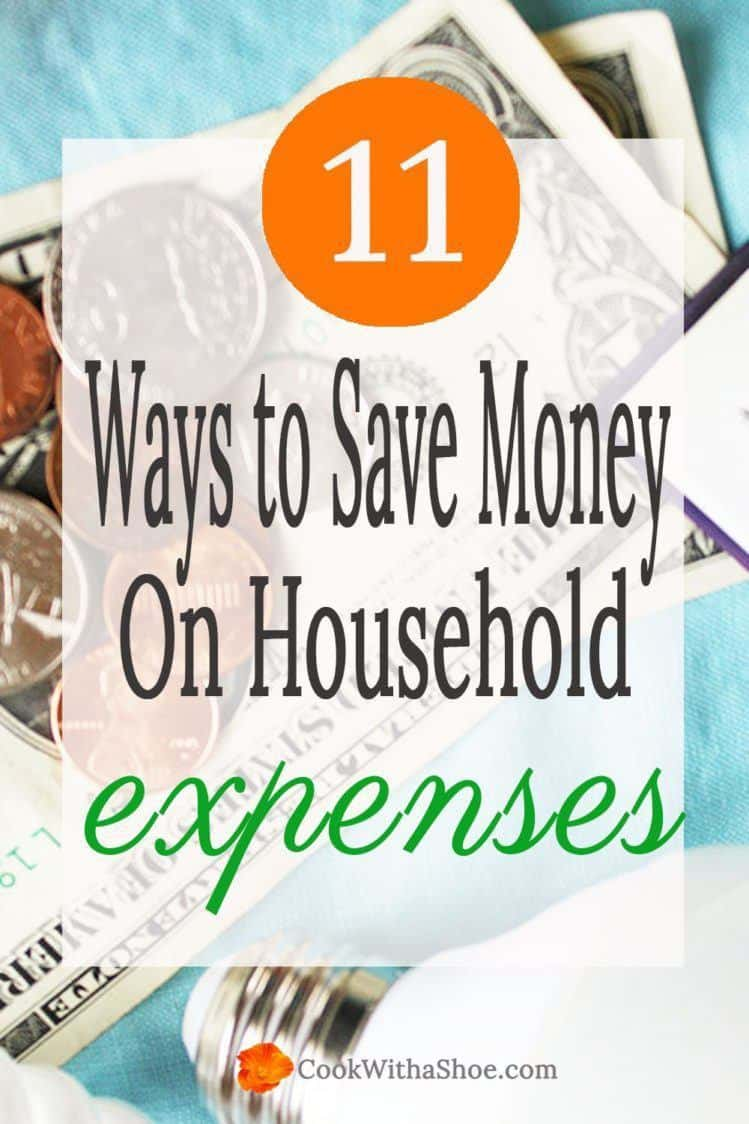 You CAN save money on every day expenses and tighten down your budget. Click through to see all the ways to SAVE money! | Cook With a Shoe
