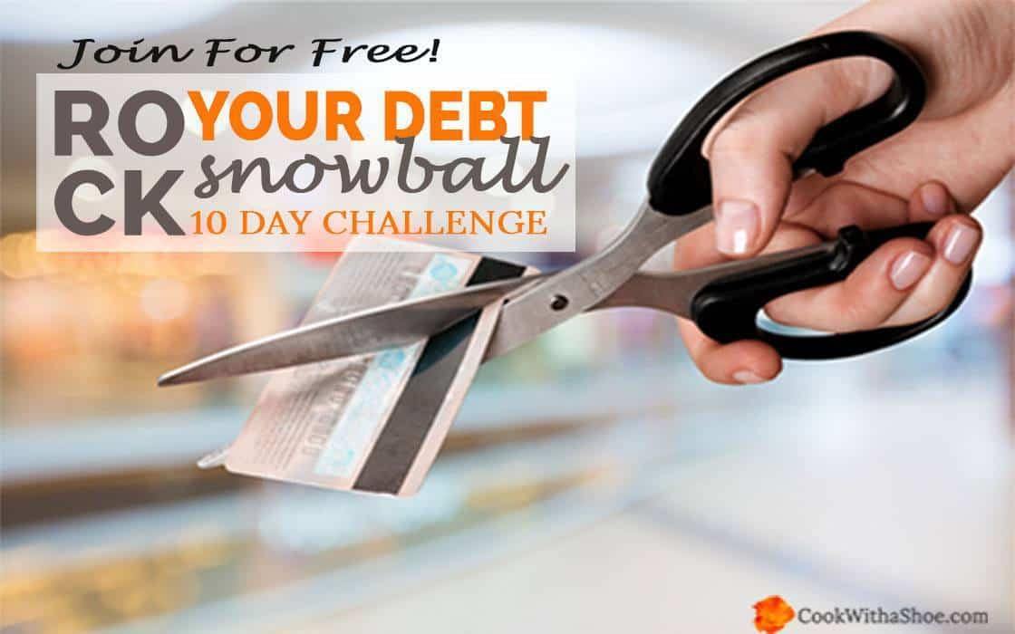 Get organized with a proven plan of attack to become debt free and find extra money to throw at your smallest debt! | Cook With a Shoe
