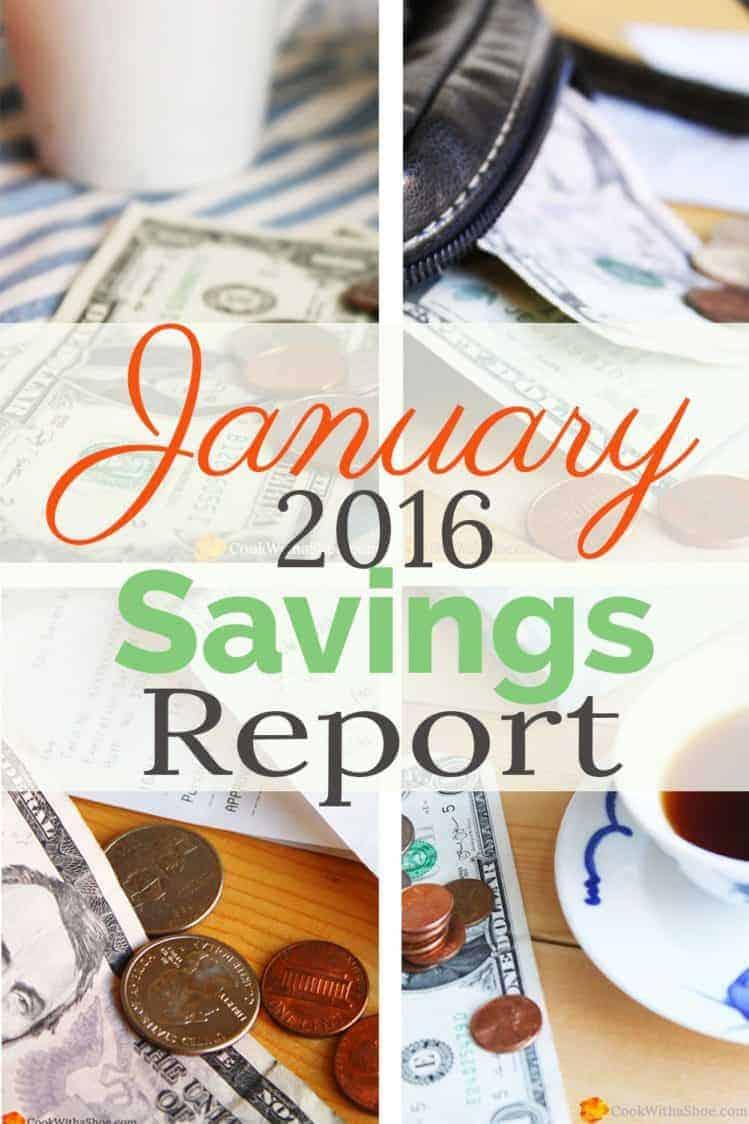 January 2016 Savings Report