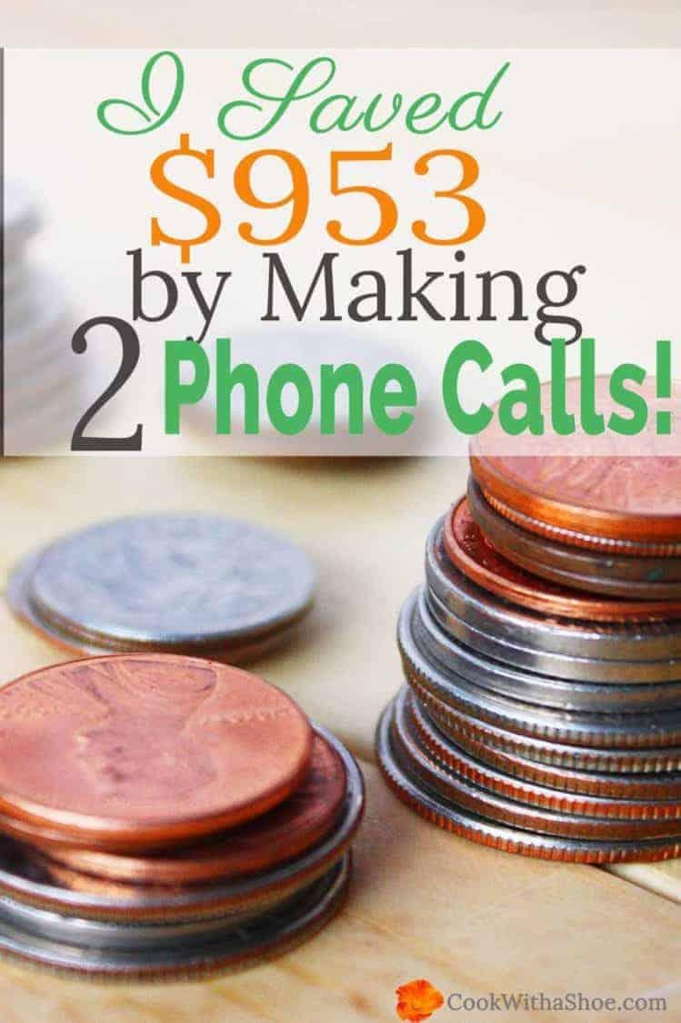 I Saved $953 by Making 2 Phone Calls!