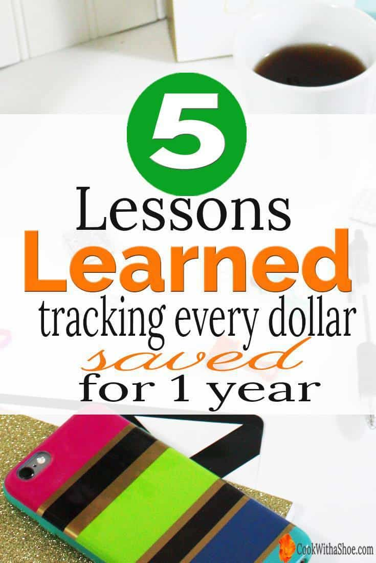 5 lessons I learned from tracking every dollar saved for a year! December 2016 Savings Report