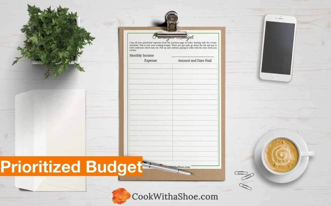 Imagine... always having enough money for food and housing with one simple adjustment and prioritize your budget easily! Finally! A budget that works!