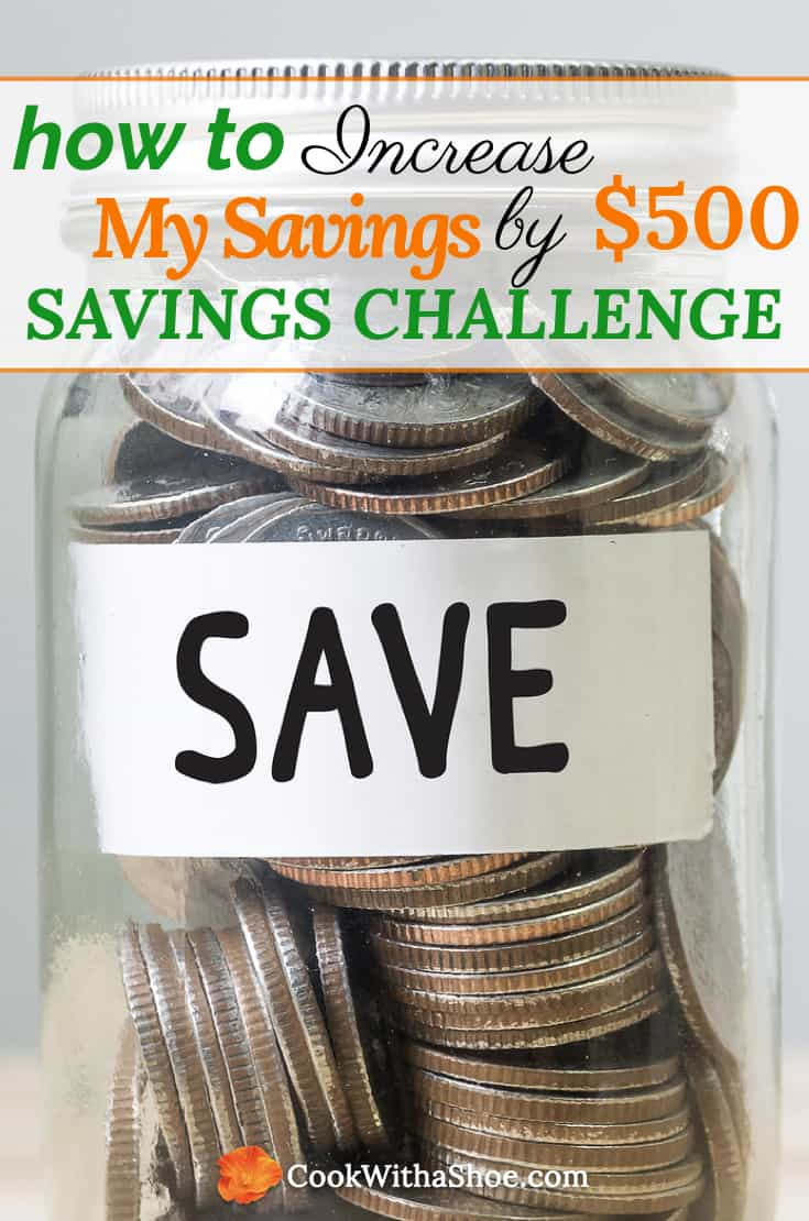 How To Increase My Savings By $500: Savings Challenge