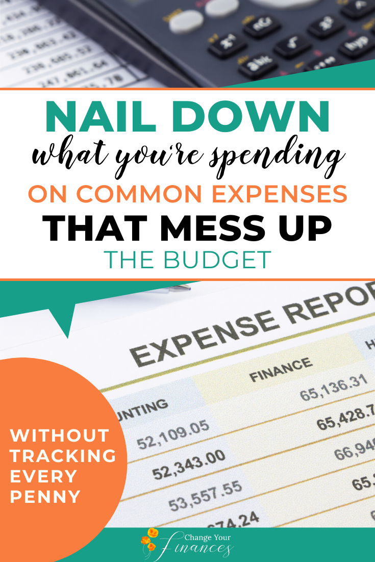 Nail Down What You're Spending On Common Expenses That Mess Up The Budget Without Tracking Every Penny!